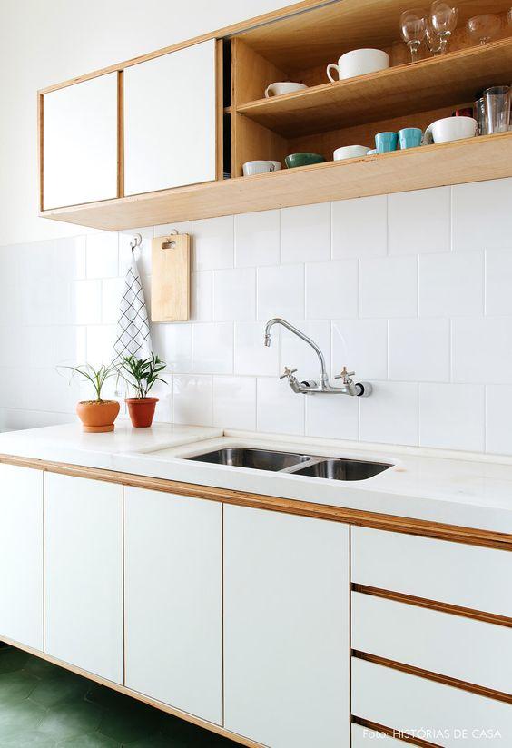 cozinha simples com estilo de decoração minimalista