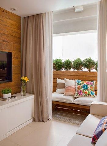 cortina de linho na sala