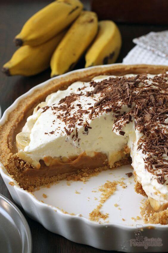 banofee pie torta banofee como fazer