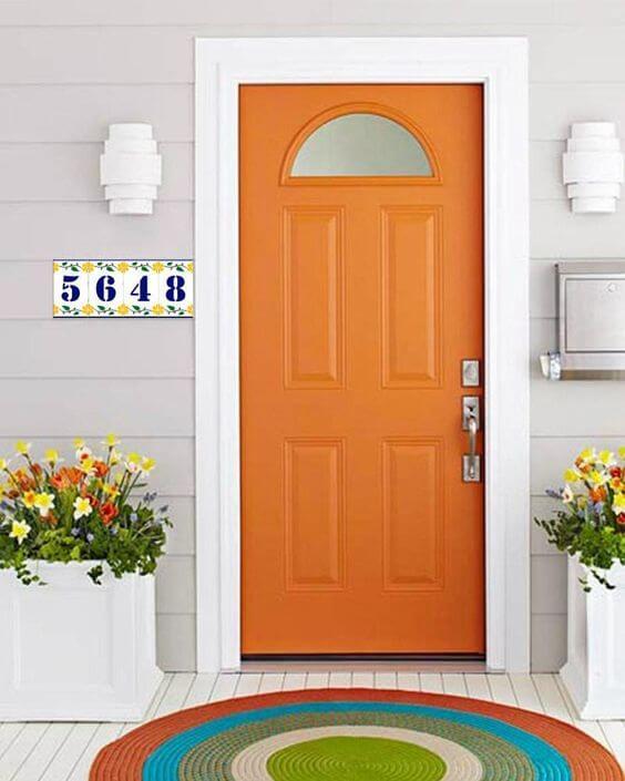 porta pinta de laranja