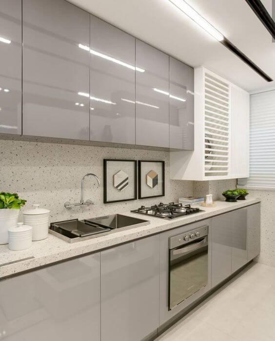Revestimento Granilite - projeto de cozinha com