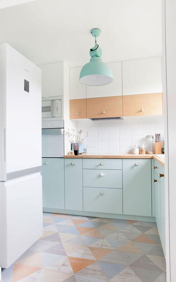 cozinha tom pastel verde