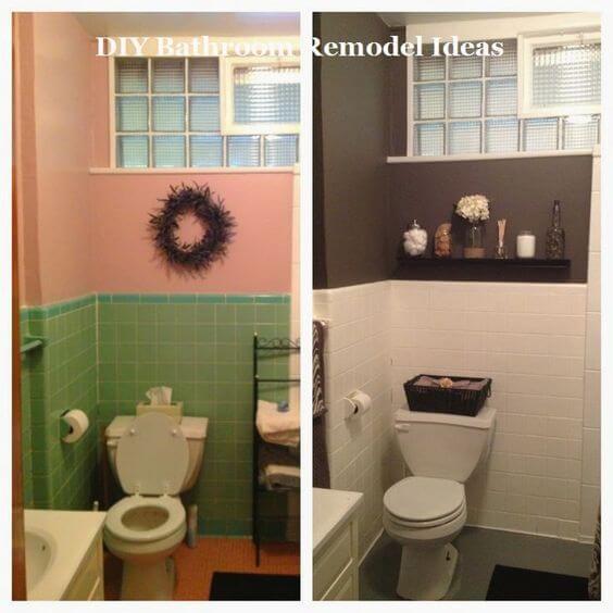 Reforma de Banheiro com Tinta