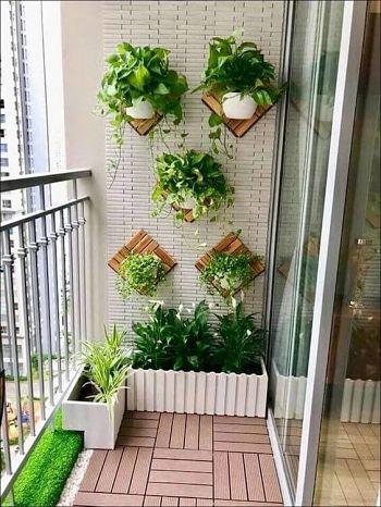 Decoração de varanda organica.