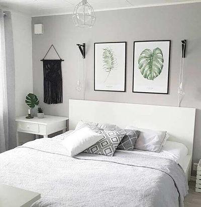 Decoração de quarto de casal simples quadros