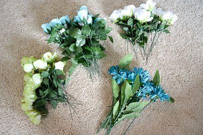 Buquê de flores artificiais