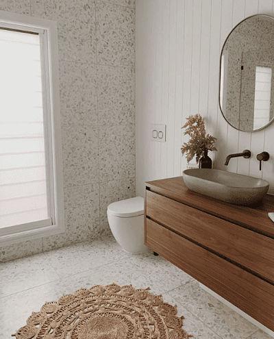Revestimento granilite no banheiro