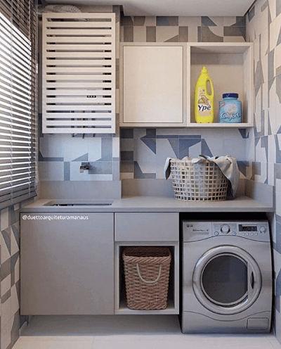 Lavanderia planejada de apartamento