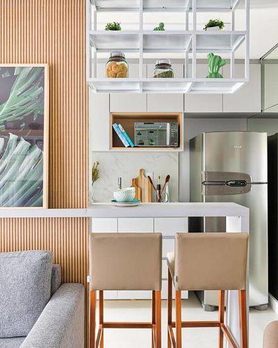 Cozinha Americana Pequena com bancada simples