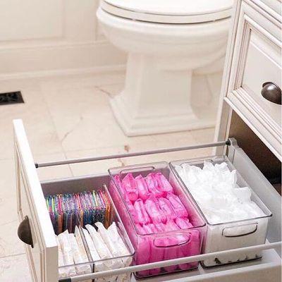 Organizador de acrílico banheiro