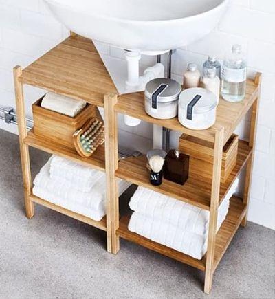 Armário modular no banheiro