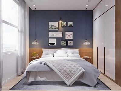 quarto azul de casal