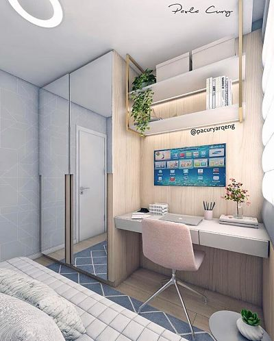 Home office planejado no quarto.
