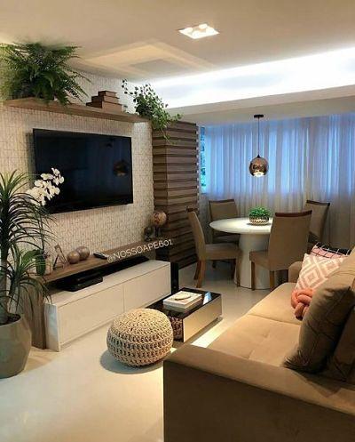 Decoração de sala pequena com plantas