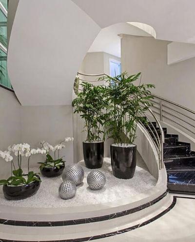 Jardim de inverno embaixo da escada