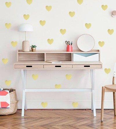 decoração home office - parede carimbo