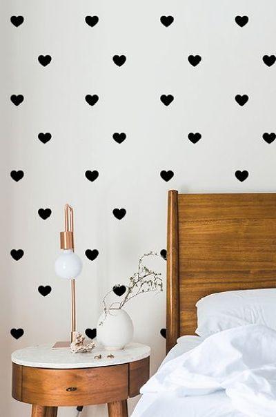 Decoração de parede  de quarto com carimbo