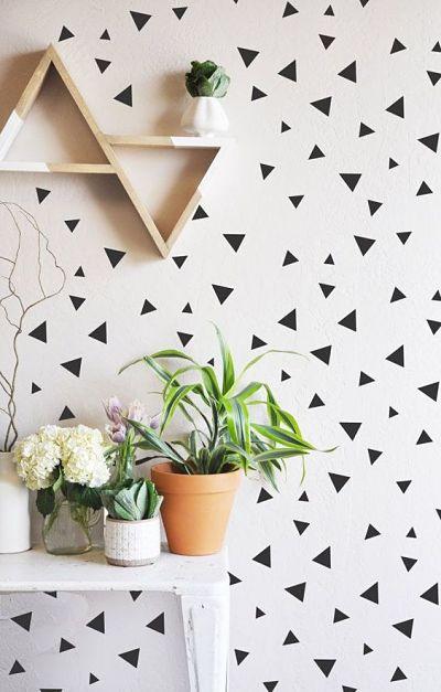 Pintura de parede triangular