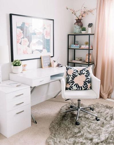 decoração de home office feminino para trabalhar em casa