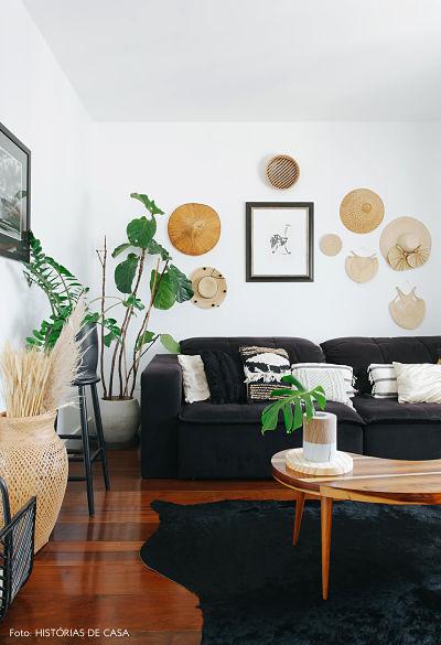 Decorar Sala com Sofá Preto: 5 dicas básicas