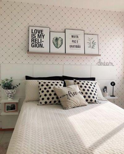 Decoração de quarto simples de casal.