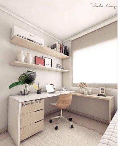 Home office planejado no quarto