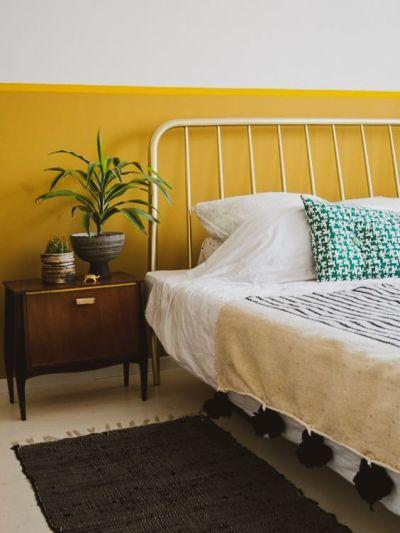 Tons de amarelo - pintura de parede criativa
