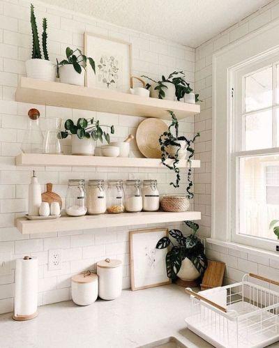Prateleiras na cozinha - organização de cozinha