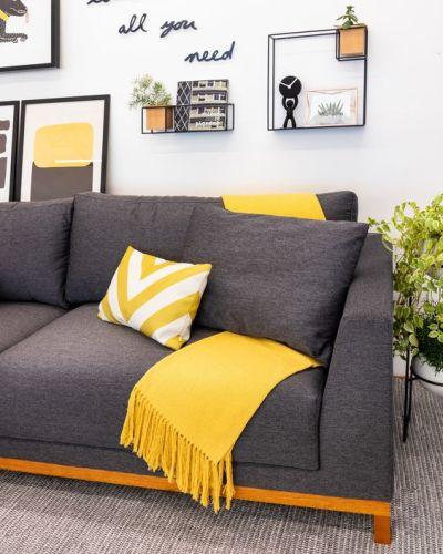 Tons de amarelo | decoração amarela e cinza
