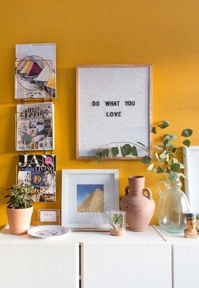 Tons de amarelo para parede sa sala