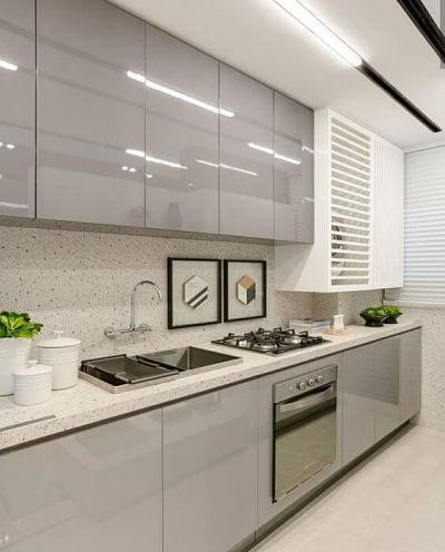 Revestimento Granilite - projeto de cozinha