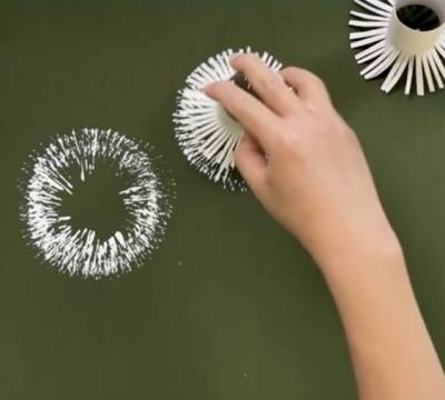 como fazer carimbo para decorar parede