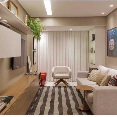 Sala pequena de apartamento