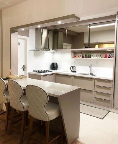 Cozinha planejada simples estilo cozinha americana