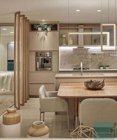 Modelo de Cozinha planejada integrada