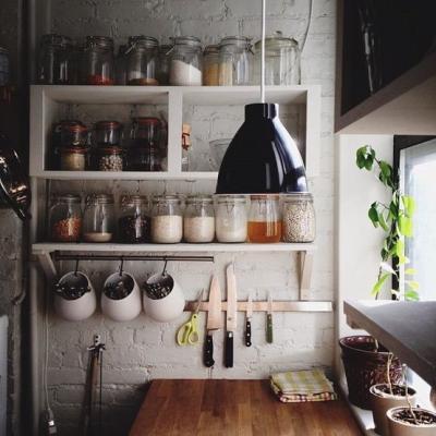 Canto da cozinha rústica