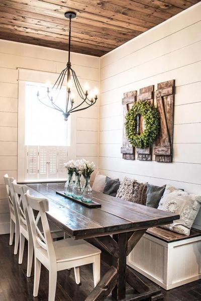 Sala de jantar rústica