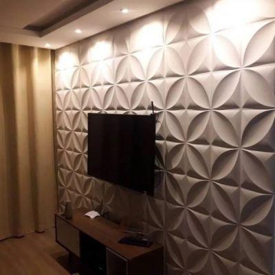 painel de gesso 3d para sala de tv