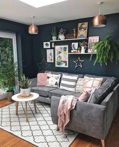 Tapete geométrico sala de estar