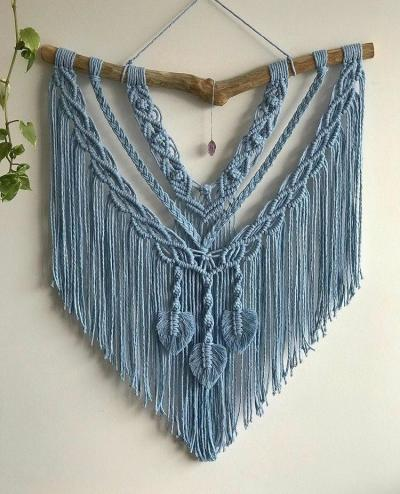 Parede decorada com macrame - macrame wall hanging
