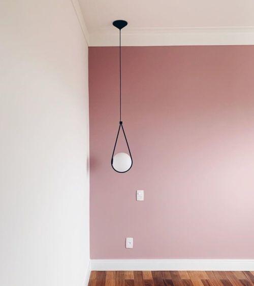 Parede pintada com tinta sunivil: meia-luz