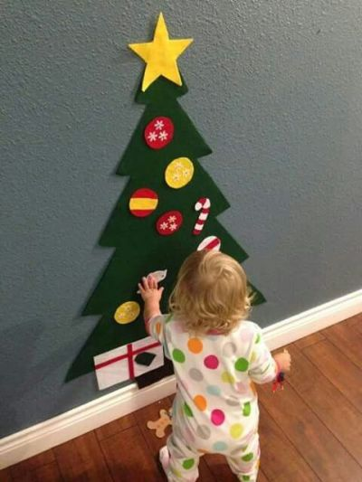 Árvore de Natal de feltro para crianças