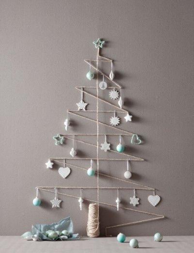 Ideia de decoração de Natal artesal