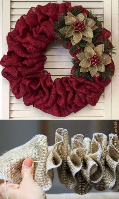 Guirlanda de Natal de tecido