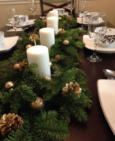 Arranjo de mesa de Natal decoração