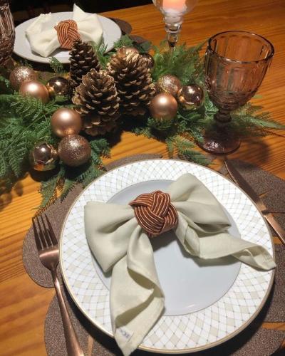 Arranjo de mesa de Natal