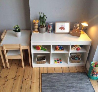 Móveis montessorianos para crianças