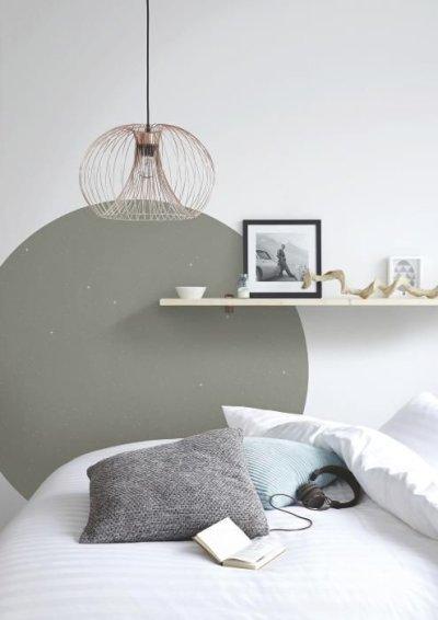 pintura de parede criativa no quarto