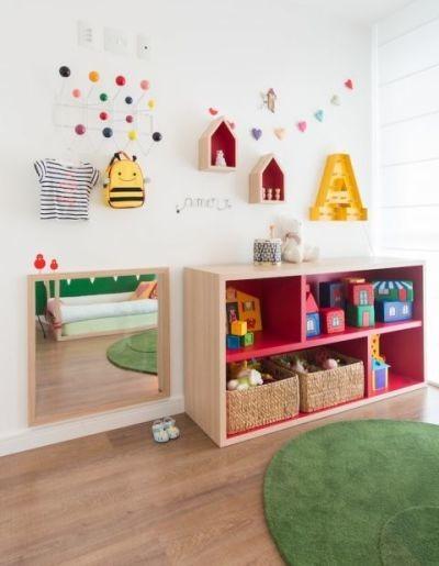 Quarto com método montessoriano para crianças