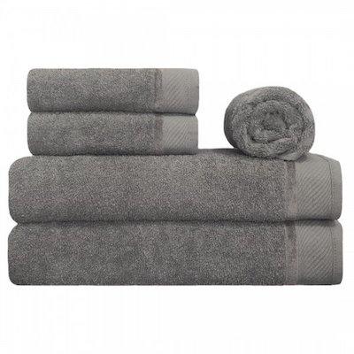 Jogo de toalhas cinza
